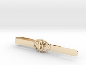 Luxury Totoya tie clip in 14K Yellow Gold