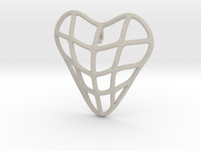Heart cage pendant in Natural Sandstone