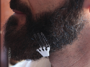 Crown for beard - lateral wearing in White Strong & Flexible
