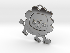Lion Pendant in Fine Detail Polished Silver