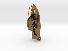 Yacht keychain in Polished Bronze