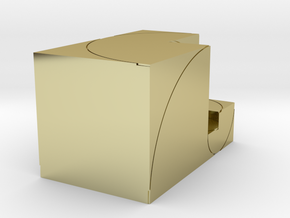 CCW Golden Rectanglular Box in 18k Gold Plated