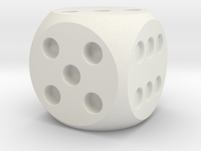 D6 Balanced Dice in White Strong & Flexible