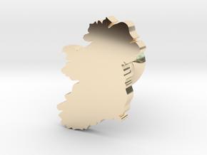 Ireland cufflink  in 14k Gold Plated Brass
