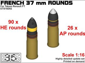 ETS16D02 - SA18 Rounds Set 2 (116 x) [1:16] in Smoothest Fine Detail Plastic