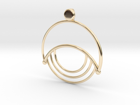 Modern Moon Pendant in 14k Gold Plated Brass