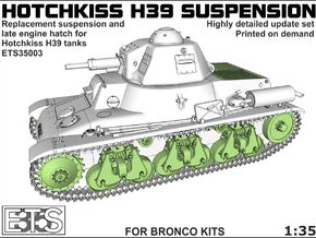 ETS35003 Hotchkiss H39 running gear + engine hatch in Frosted Ultra Detail