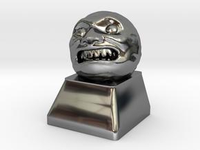 Cherry MX - Keycap - Majora Moon in Fine Detail Polished Silver