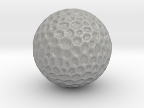 DRAW geo - sphere alien egg golf ball in Aluminum: Small