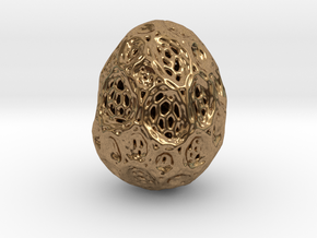 DRAW geo - alien egg 2 in Natural Brass: Small