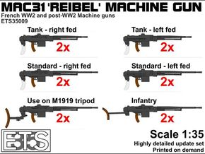 ETS35009 Reibel Machine Gun - 6 types, 2 of each in Frosted Ultra Detail