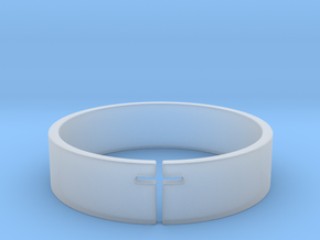 Cross Ring Size 10 in Smooth Fine Detail Plastic