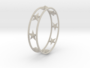 Ring Of Starline 14.1 mm Size 3 in Natural Sandstone