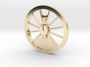 Reno, Inyo, Genoa Driver Wheel in 14K Yellow Gold