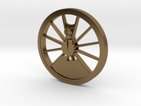 Reno, Inyo, Genoa Driver Wheel in Polished Bronze