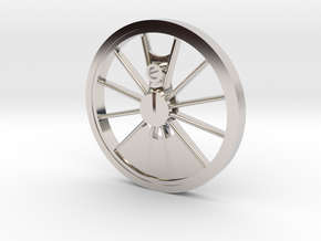 Reno, Inyo, Genoa Driver Wheel in Rhodium Plated Brass