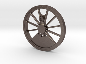 Reno, Inyo, Genoa Driver Wheel in Polished Bronzed Silver Steel