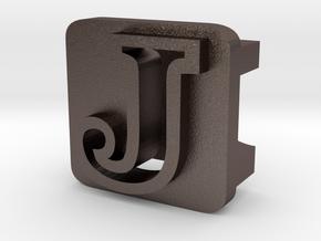 BandBit J for Fitbit Flex in Polished Bronzed Silver Steel