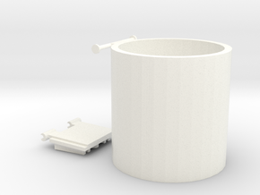 """WOW"" Cup/Pencil holder in White Processed Versatile Plastic"