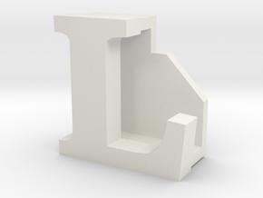 BandBit L2, Fitbit Flex (Fits parallel to strap.) in White Natural Versatile Plastic