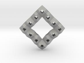 Heart Particle Pendant in Raw Aluminum