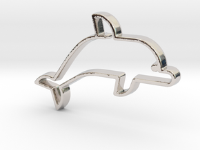 Dolphin V1 Pendant in Rhodium Plated Brass
