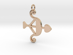 Cupid Bow Pendant - Amour Collection in 14k Rose Gold Plated Brass