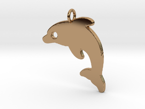 Dolphin V2 Pendant in Polished Brass