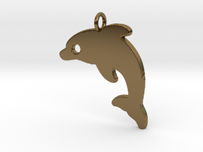 Dolphin V2 Pendant in Polished Bronze