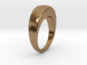Ø19.51 Egg Ring/Ø0.768 inch in Natural Brass