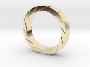 Aperture Ring in 14k Gold Plated Brass