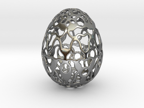 Screen - Decorative Egg - 2.3 inch in Fine Detail Polished Silver