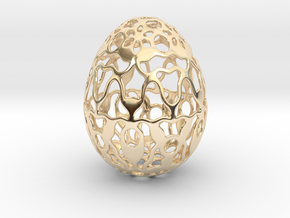 Screen - Decorative Egg - 2.3 inch in 14k Gold Plated Brass