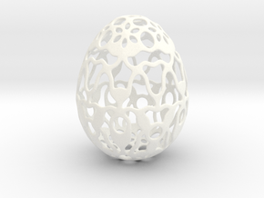 Screen - Decorative Egg - 2.3 inch in White Processed Versatile Plastic