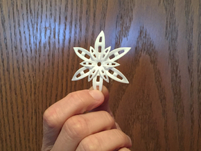 Star Pendant in White Processed Versatile Plastic