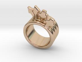 Love Forever Ring 16 - Italian Size 16 in 14k Rose Gold Plated Brass
