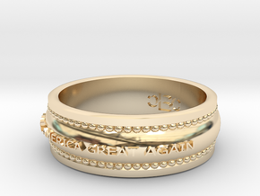 size 8 Make America Great Again band in 14K Yellow Gold