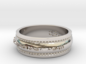 size 8 Make America Great Again band in Rhodium Plated Brass
