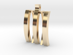 """DropWave"" in 14k Gold Plated Brass"