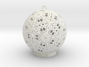Kayam Ornament in White Natural Versatile Plastic