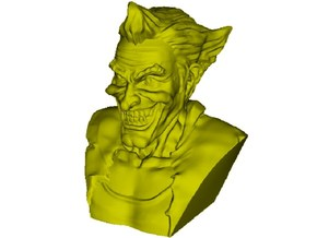 1/9 scale Joker fictional supervillain bust in Smooth Fine Detail Plastic