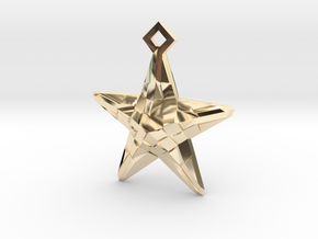 Stylised Sea Star Pendant in 14K Yellow Gold