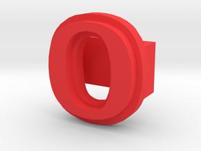 BandBit O for Fitbit Flex in Red Processed Versatile Plastic