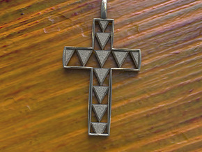 Hawaiian Shark Tooth Cross in Stainless Steel