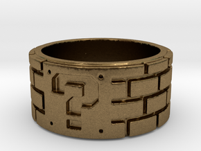 Mario Ring Size 8 in Natural Bronze: 5 / 49