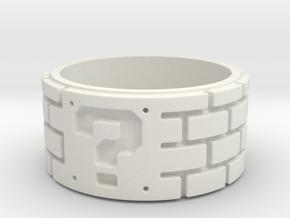 Mario Ring Size 8 in White Natural Versatile Plastic: 5 / 49