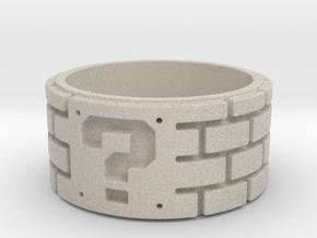 Mario Ring Size 8 in Natural Sandstone: 5 / 49