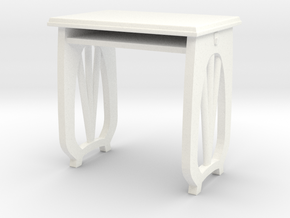Sakuragaoka School Desk in White Processed Versatile Plastic