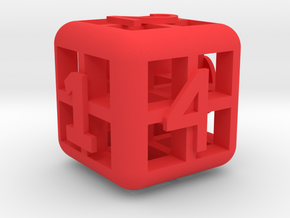 The Big Weird Dice in Red Processed Versatile Plastic