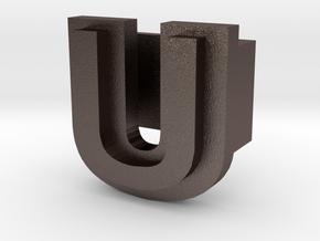 BandBit U1 for Fitbit Flex in Polished Bronzed Silver Steel